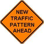 New Traffic Pattern Ahead (Orange)