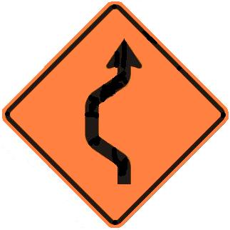 Double-Reverse Curve Detour - One Lane