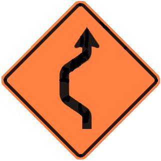 Double-Reverse Curve Detour - One Lane