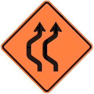Double-Reverse Curve Detour - Two Lanes