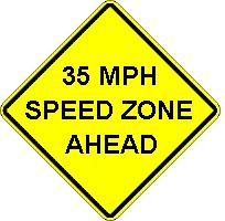 ___MPH SPEED ZONE AHEAD