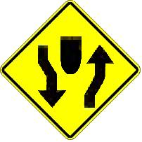 Divided Highway Begins symbol