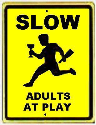 Frolicking Pedestrian Warning