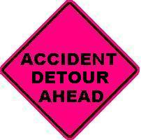 ACCIDENT DETOUR AHEAD
