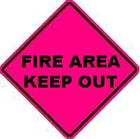 FIRE AREA KEEP OUT
