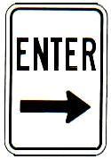 ENTER arrow right