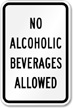 No Alcoholic Beverages Allowed