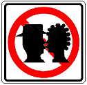 No Kissing Zone