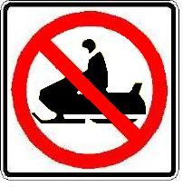 No Snowmobile's Here