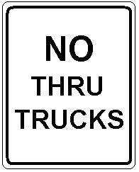 NO THRU TRUCKS
