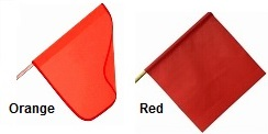 Warning Flags - Orange or Red