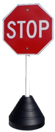 Portable Rubber Sign Stand Base