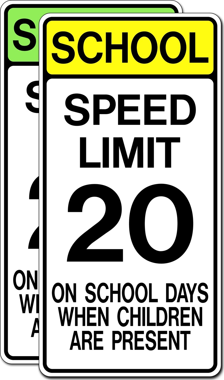 School Speed Limit on School Days When Children Are Present
